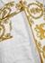 White logo-flocked cotton robe - Versace