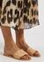 Taygete blush leather sliders - Ancient Greek Sandals