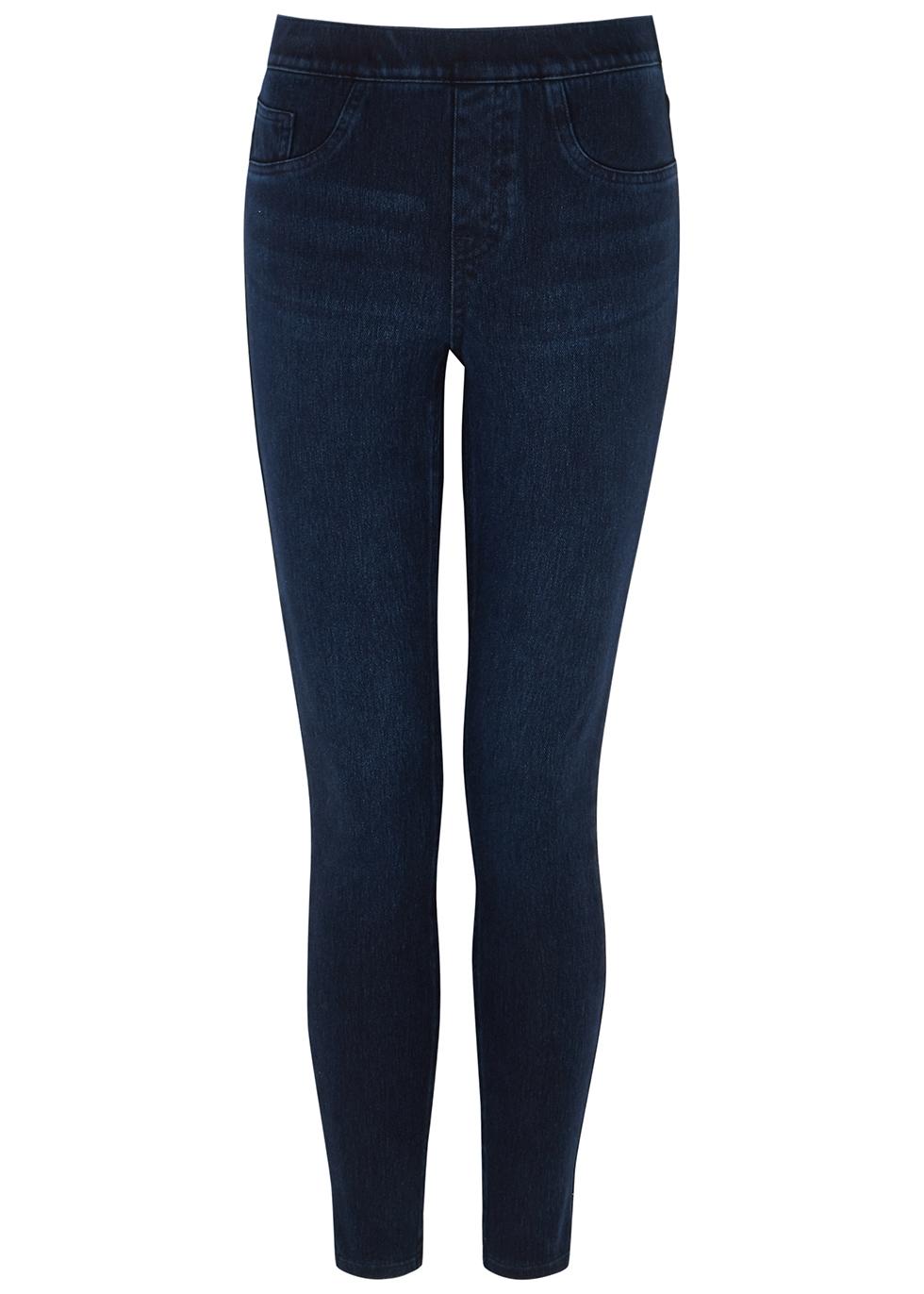 Jean-ish indigo stretch-denim leggings