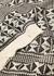 Monochrome geometric-intarsia jumper - Saint Laurent