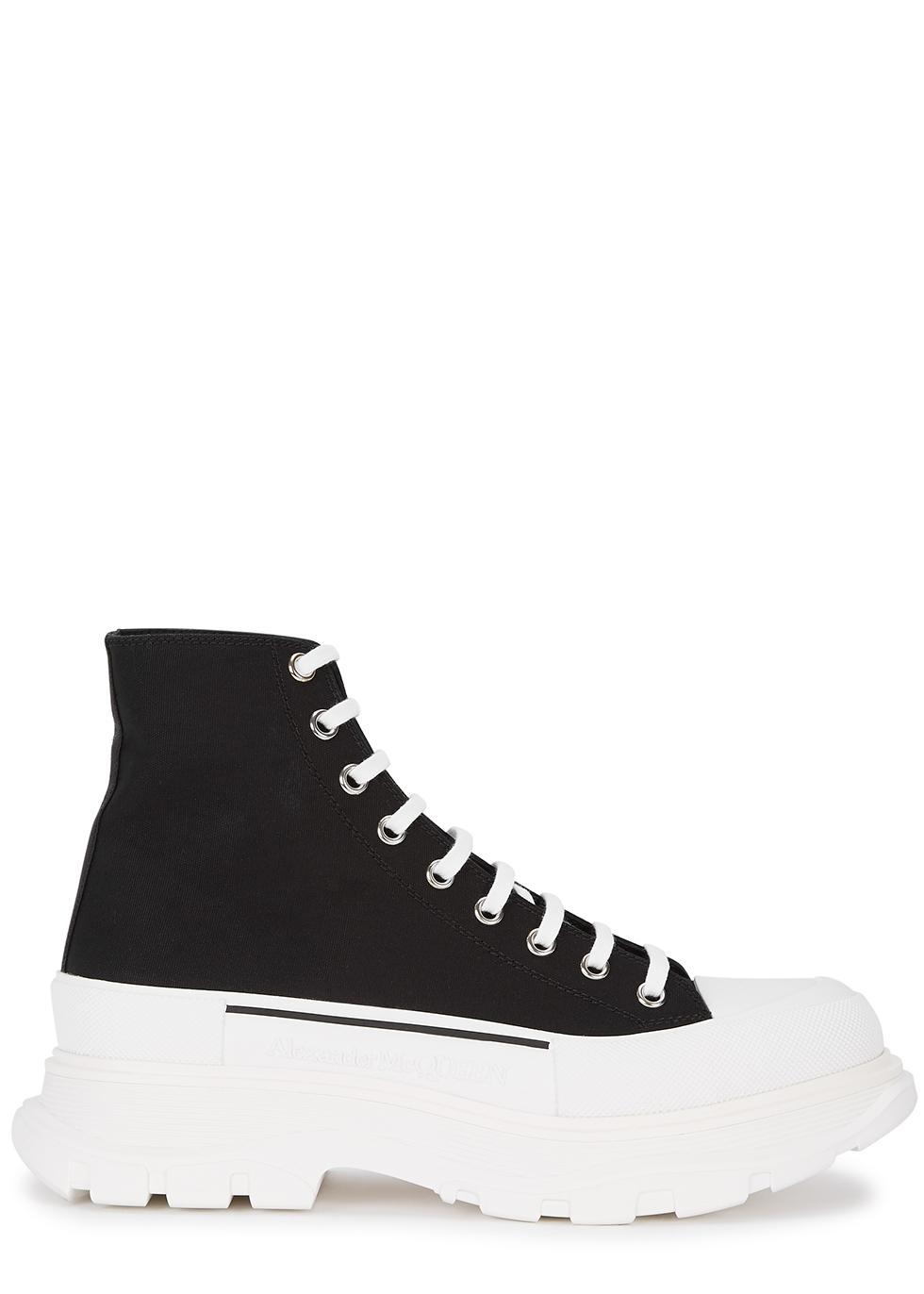 Tread Slick black canvas hi-top sneakers
