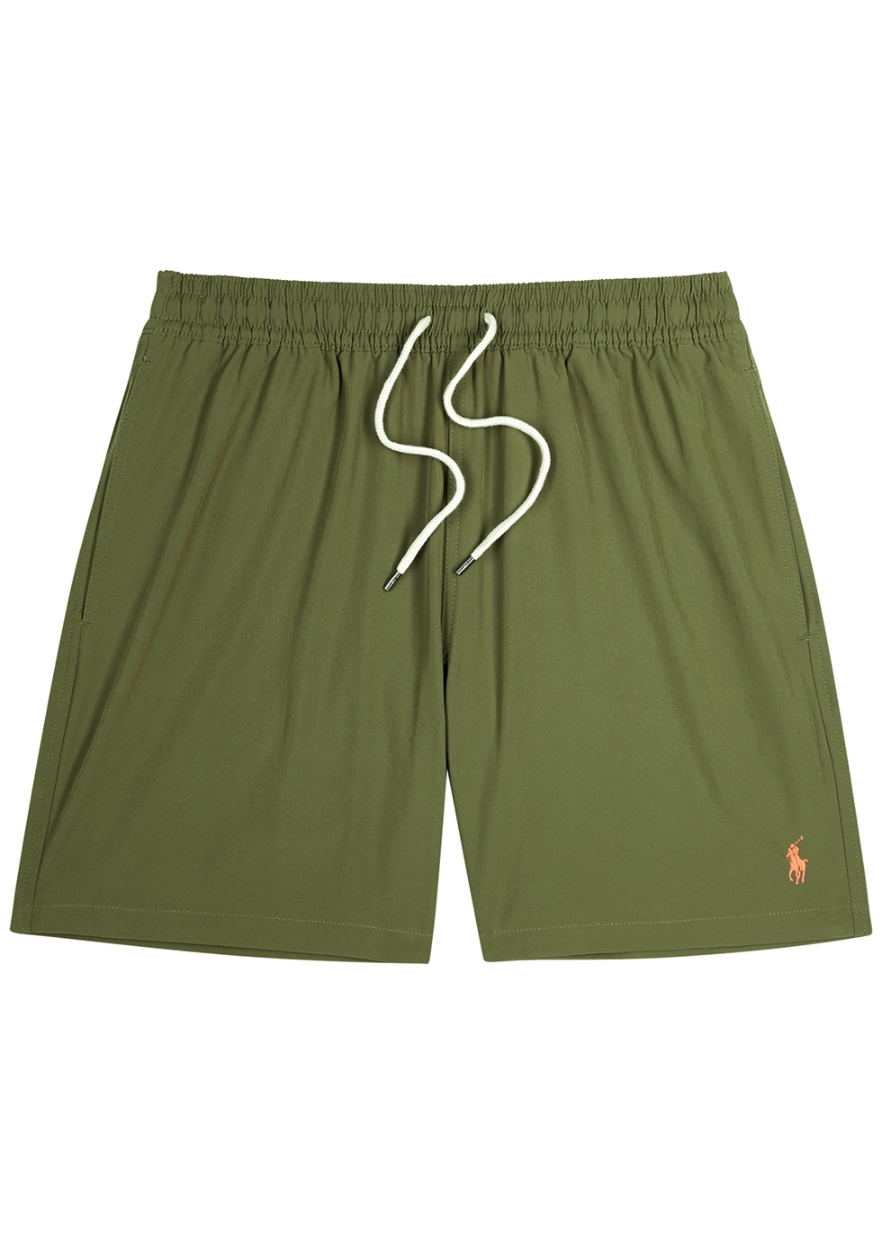 Traveller army green swim shorts