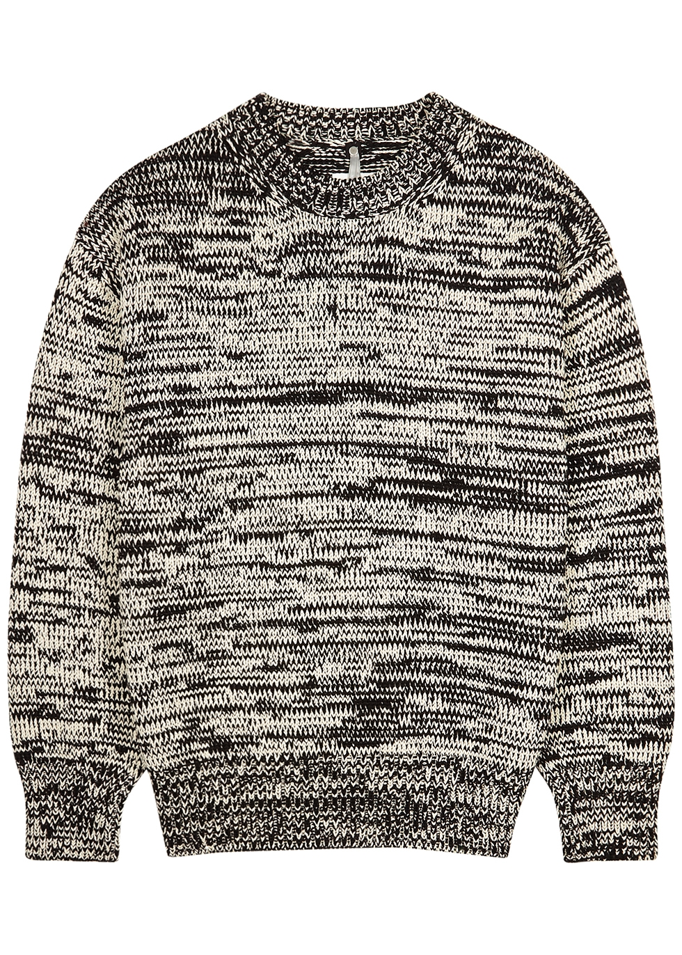 Monochrome knitted cotton jumper
