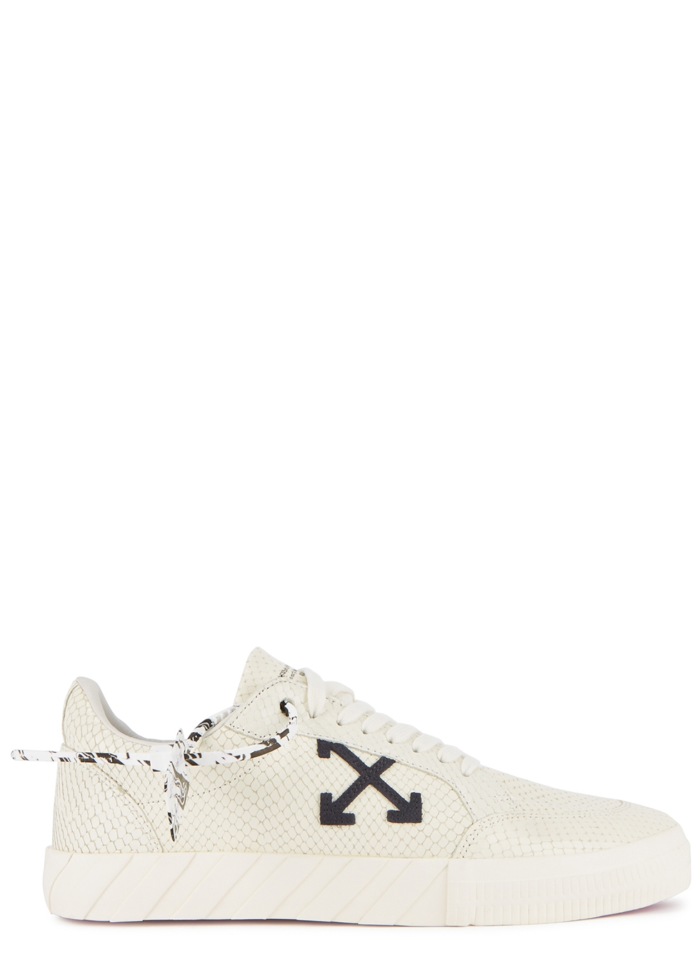 Low Vulcanized python-effect leather sneakers