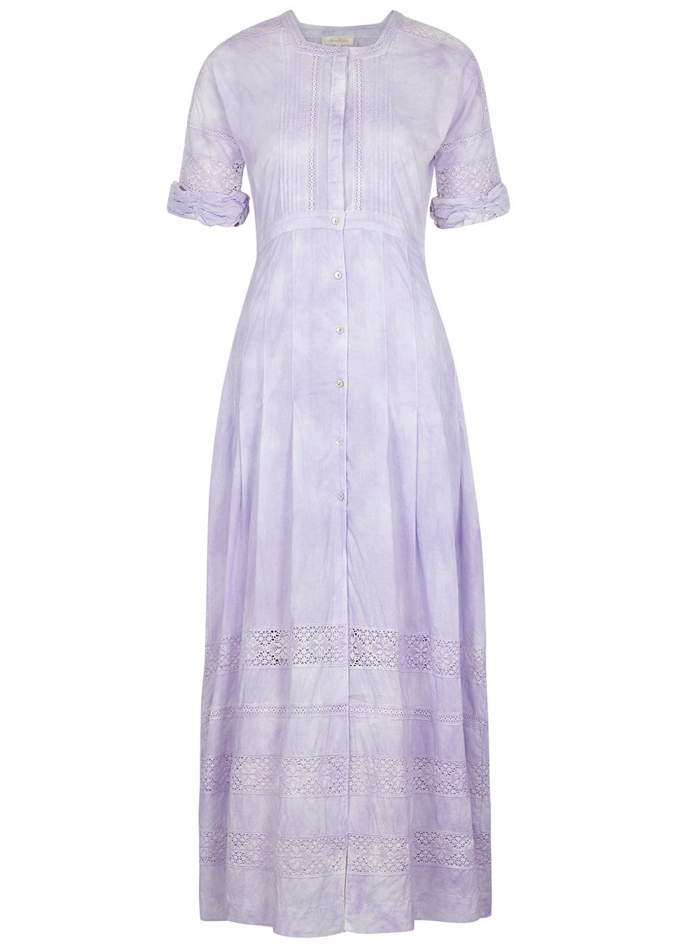 Edie lilac cotton midi dress