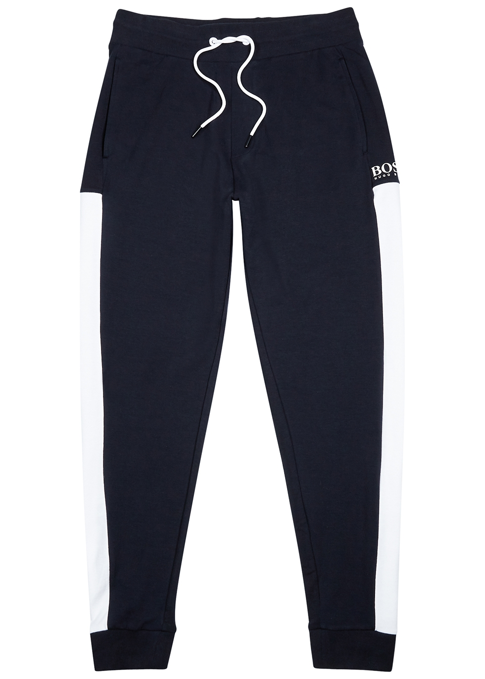 Navy jersey sweatpants