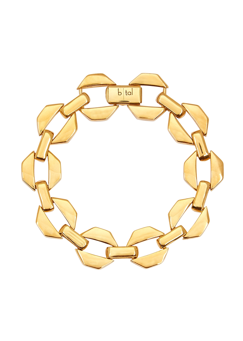 Gold-plated octagon chain bracelet