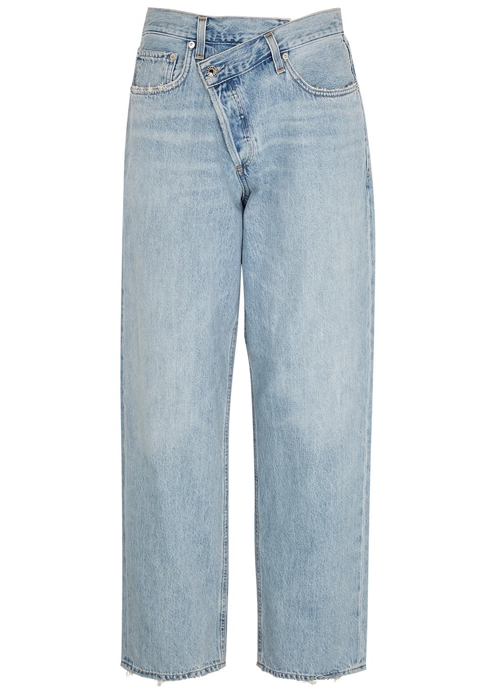Criss Cross light blue straight-leg jeans