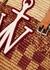 Logo-appliquéd panelled raffia tote - JW Anderson