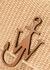 Sand raffia cross-body bag - JW Anderson