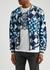Blue geometric-print shell bomber jacket - Dolce & Gabbana
