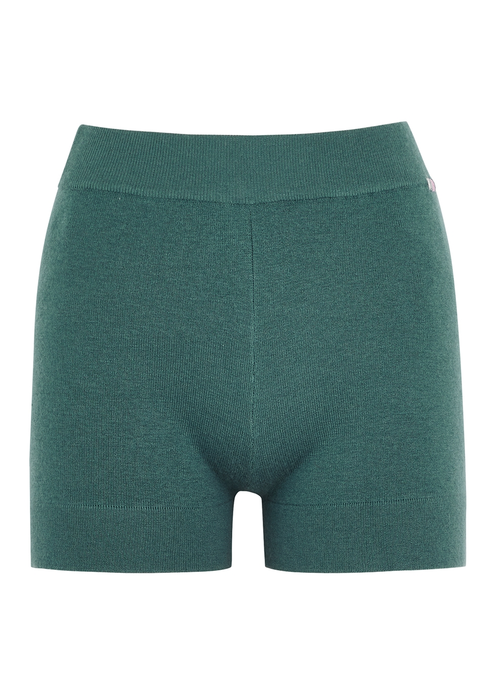 N°179 Very teal cashmere-blend shorts