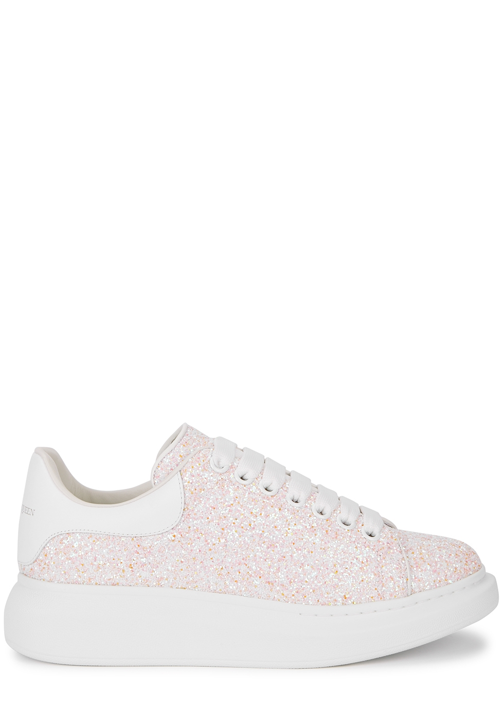 Larry pink glittered leather sneakers
