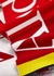 Red logo-intarsia wool-blend scarf - Alexander McQueen