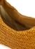 Allegra brown leather and raffia shoulder bag - Rejina Pyo