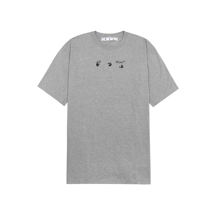 Off-White MARKER ARROWS GREY PRINTED COTTON T-SHIRT