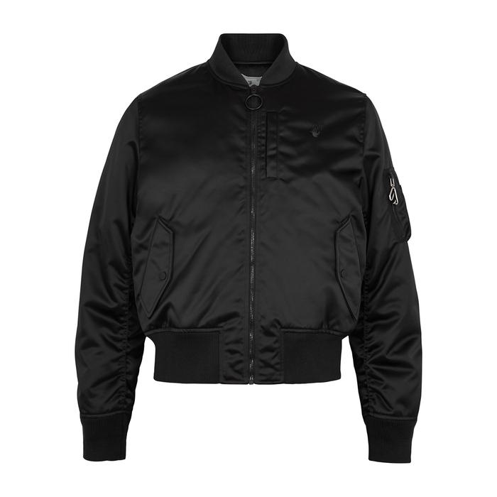 Off-White Bomber jackets BLACK SATIN BOMBER JACKET