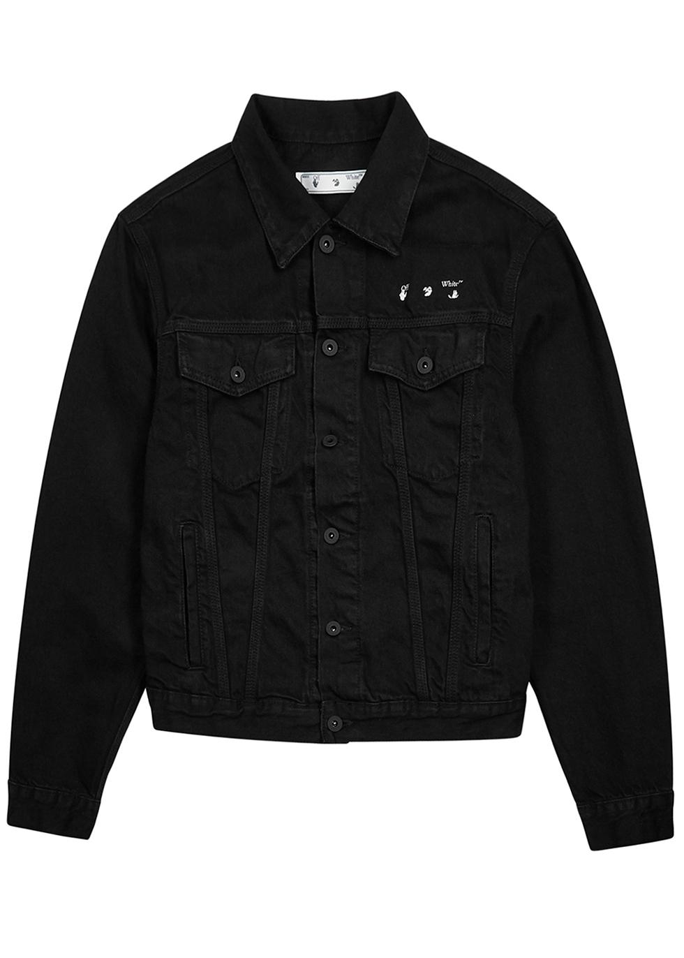 Marker Arrows black denim jacket