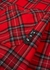 Diag red checked flannel shirt - Off-White