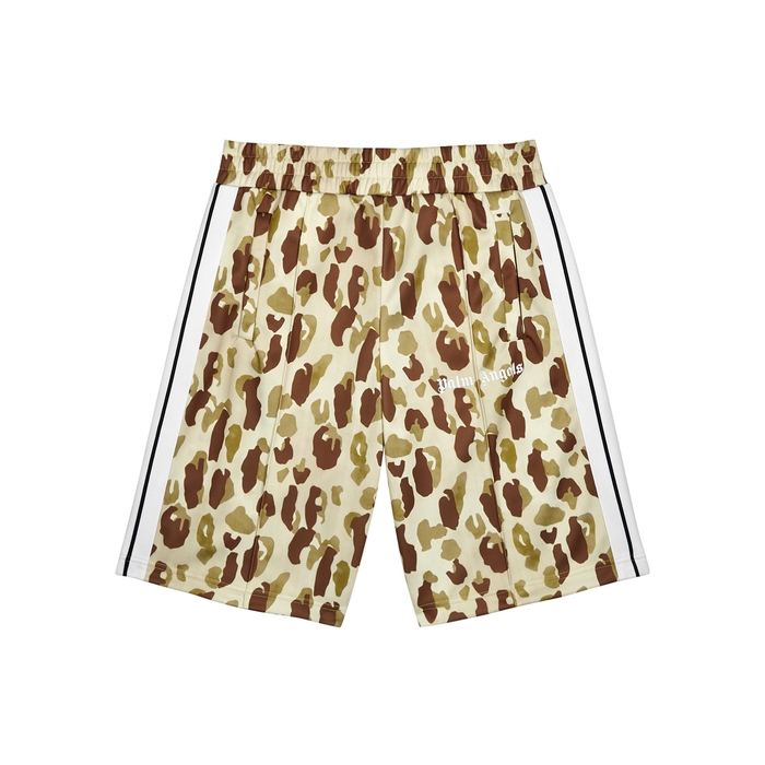 Palm Angels Clothing CAMOUFLAGE-PRINT JERSEY SHORTS
