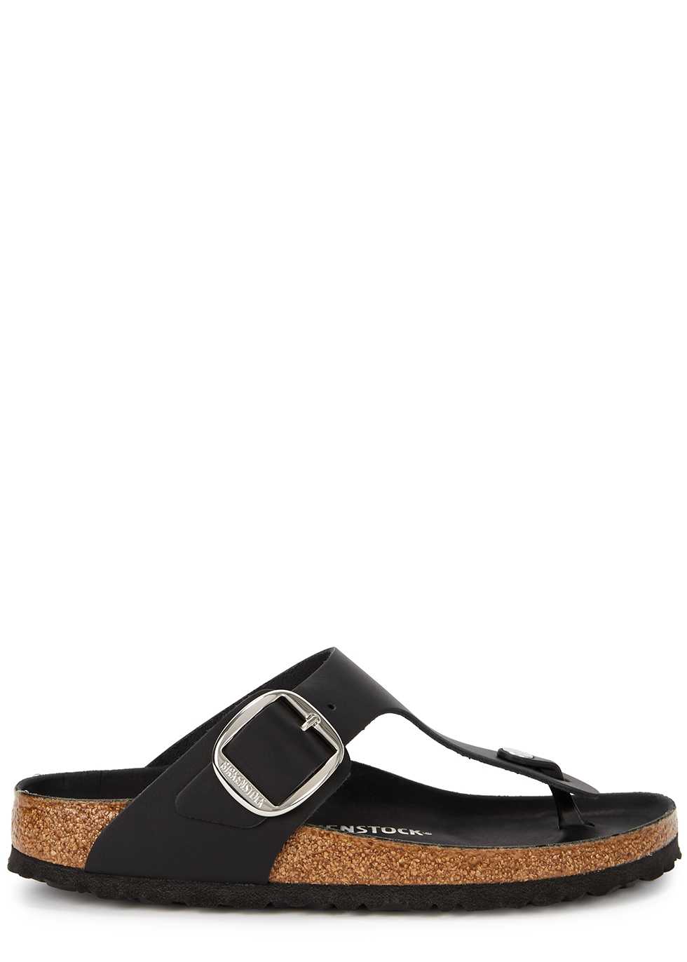 Gizah black leather thong sandals