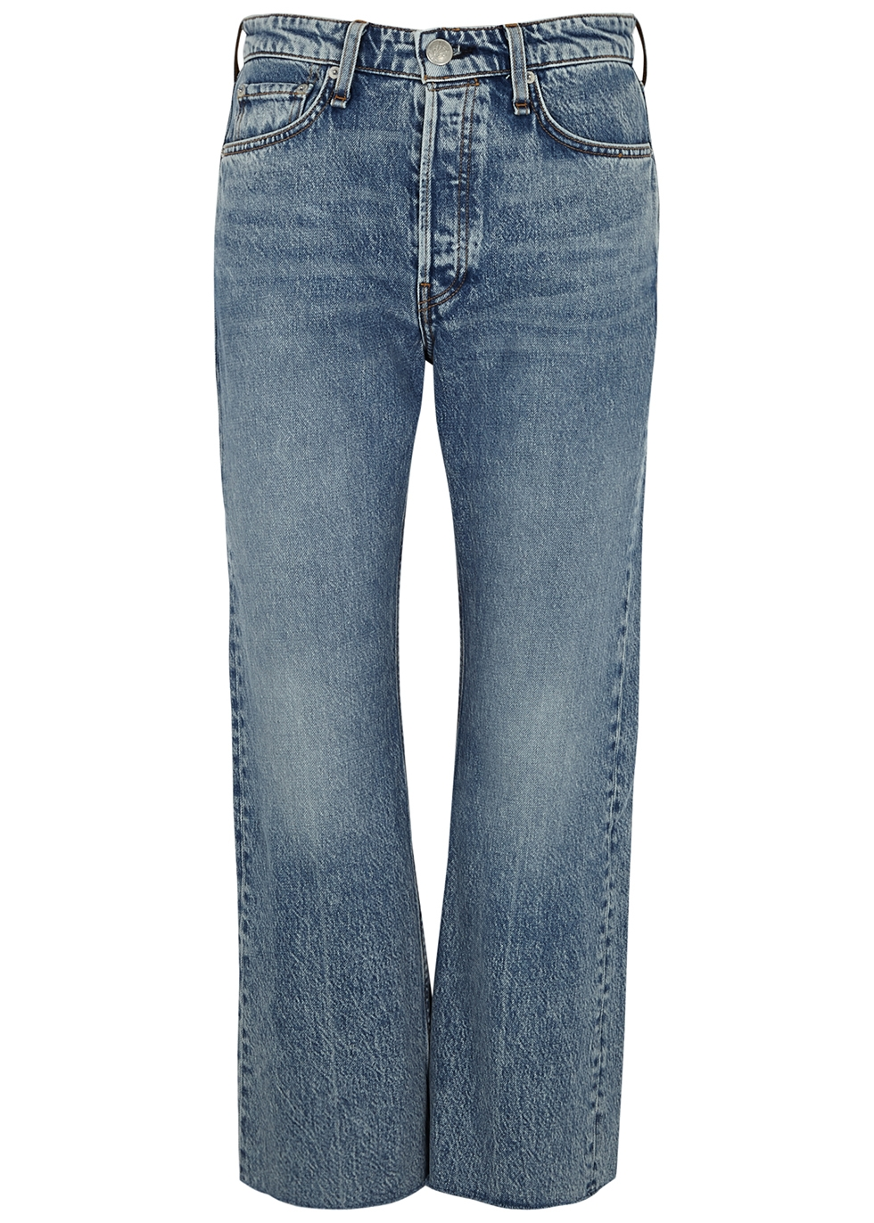 Maya blue cropped flared-leg jeans