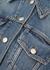 Blue cropped denim jacket - Alexander McQueen