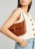 Miranda brown crocodile-effect leather shoulder bag - BY FAR