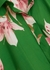 Green floral-print poplin shirt dress - Valentino