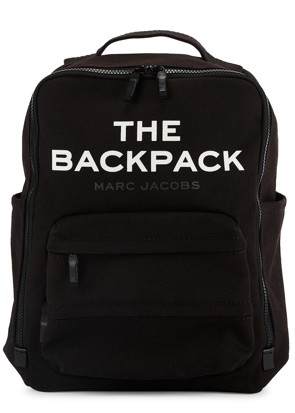 The Backpack black canvas bag