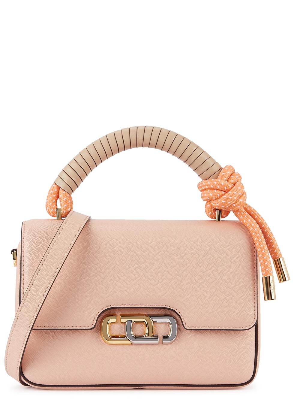 The J Link light pink leather top handle bag