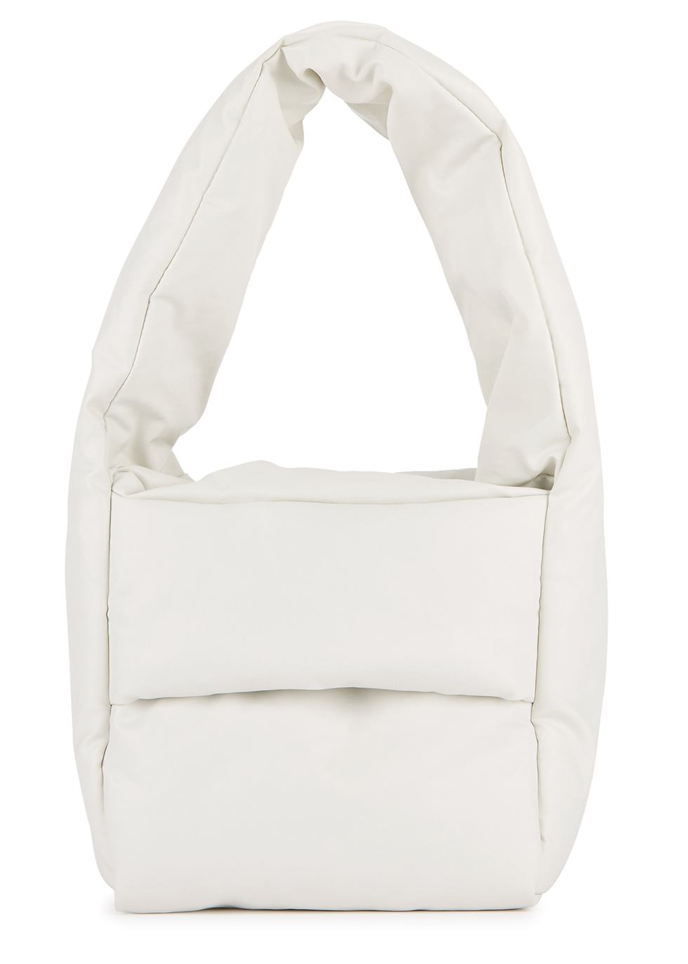 Monk small white coated tote