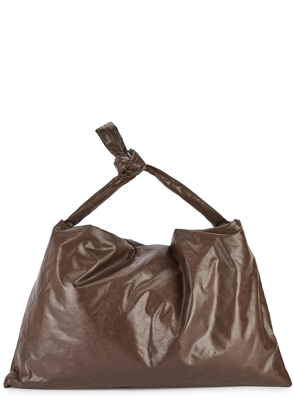 Square Oil small padded coated tote