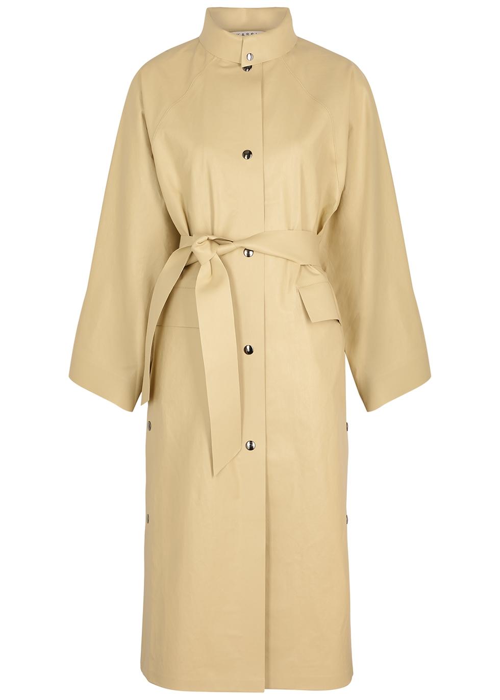 Kimono Below sand rubberised coat