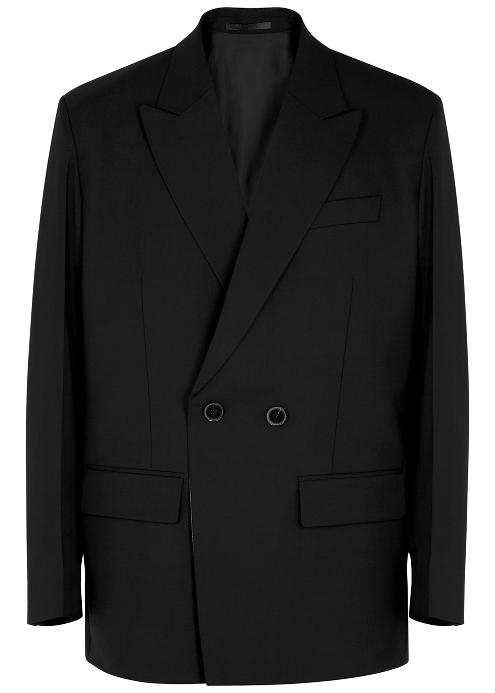 Black double-breasted blazer