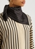 Black logo-embroidered silk scarf - Totême