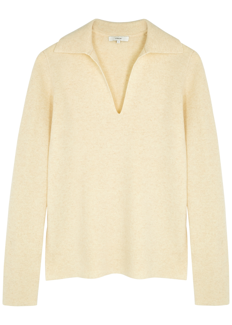 Oatmeal wool and cashmere-blend jumper