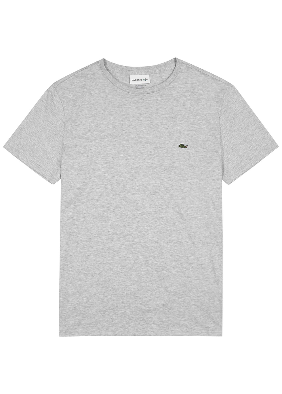 Light grey mélange cotton T-shirt