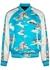 Blue printed satin bomber jacket - Amiri