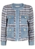 Avis denim-trimmed tweed jacket - Alice + Olivia