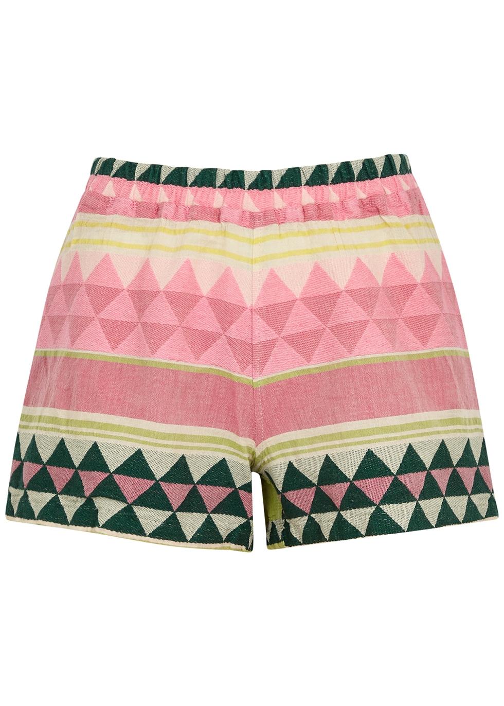 Zakar embroidered cotton shorts