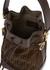 Mon Tresor mini monogrammed leather bucket bag - Fendi