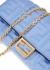 Light blue logo leather wallet-on-chain - Fendi