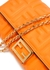 Orange logo leather wallet-on-chain - Fendi