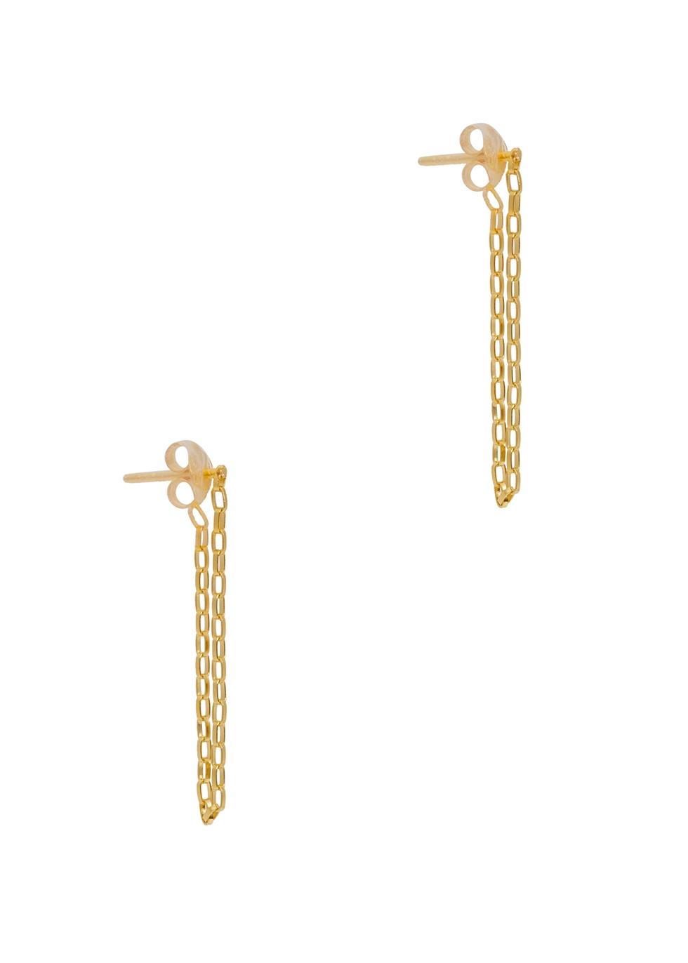 X Estée Lalonde 18kt gold-plated drop earrings
