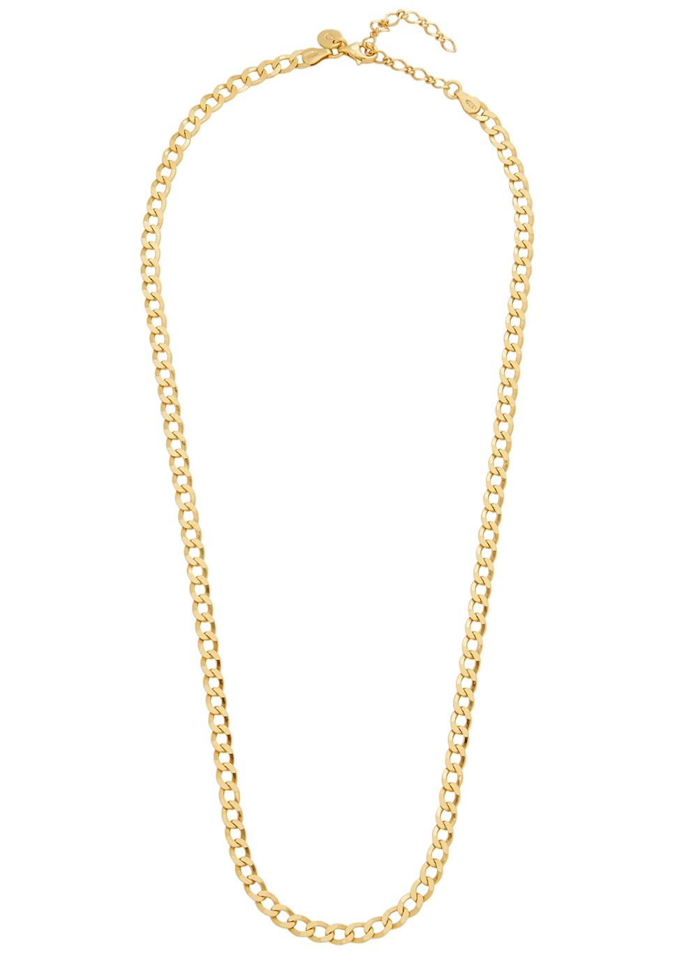 X Estée Lalonde 18kt gold-plated chain necklace