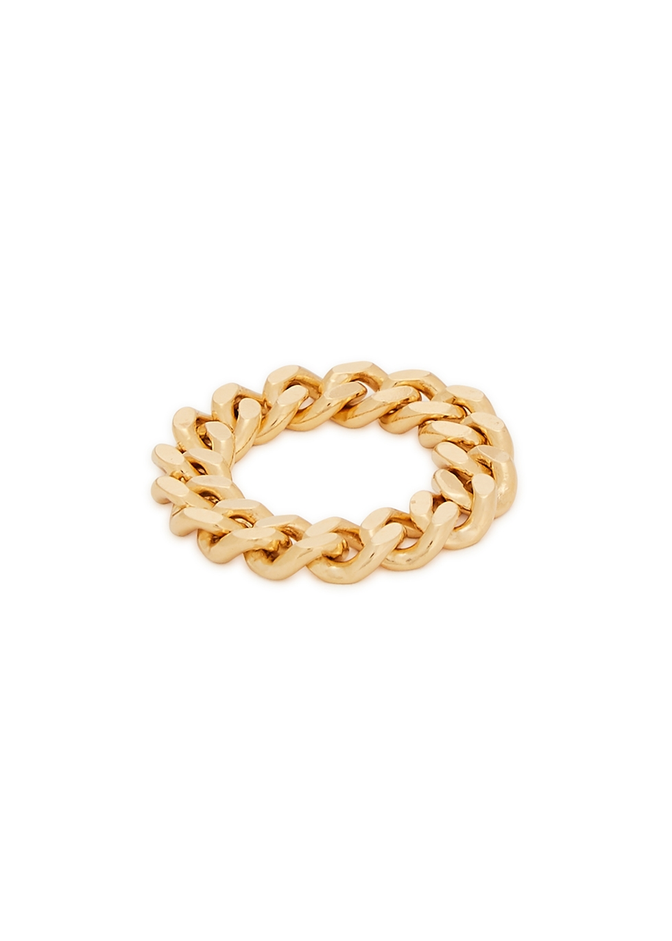 X Estée Lalonde 18kt gold-plated chain ring