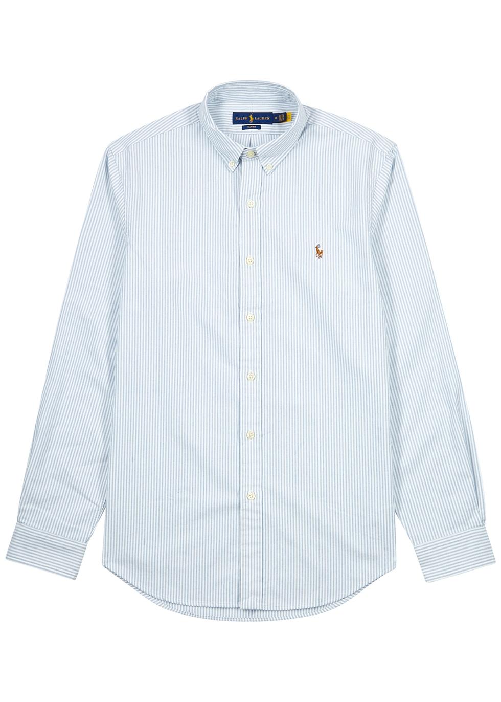 Striped piqué cotton Oxford shirt