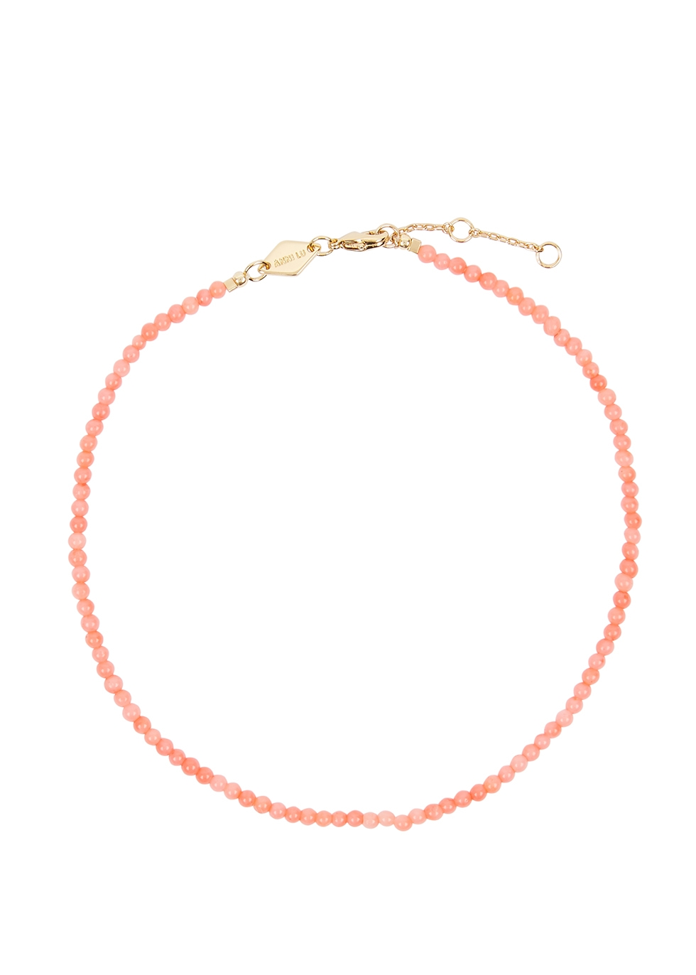 Wave beaded 18kt gold-plated anklet