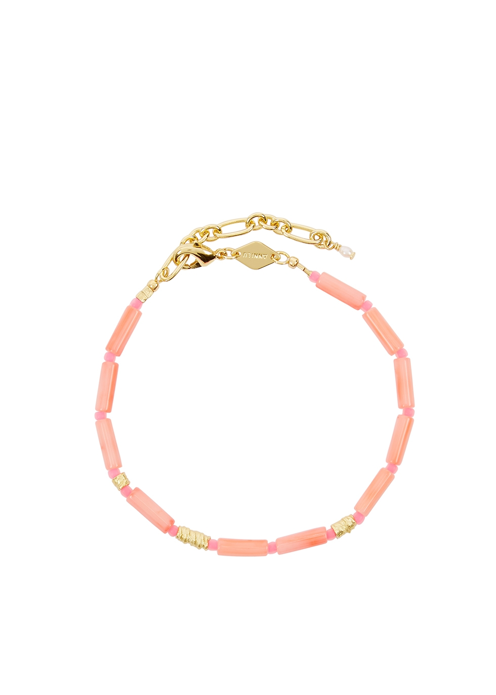 Malibu beaded 18kt gold-plated bracelet